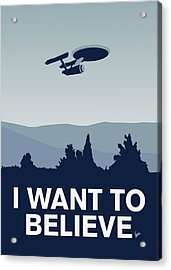 My I Want To Believe Minimal Poster-enterprice Acrylic Print by Chungkong Art