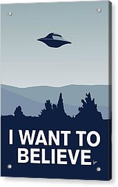 My I Want To Believe Minimal Poster-xfiles Acrylic Print by Chungkong Art