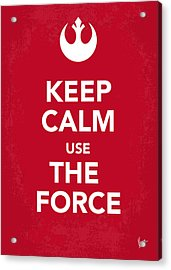 My Keep Calm Star Wars - Rebel Alliance-poster Acrylic Print by Chungkong Art