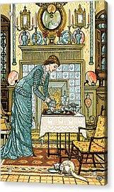 My Lady's Chamber Acrylic Print by Walter Crane
