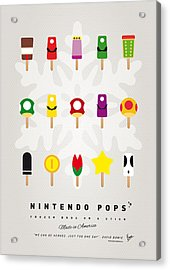 My Mario Ice Pop - Univers Acrylic Print by Chungkong Art