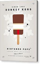 My Nintendo Ice Pop - Donkey Kong Acrylic Print by Chungkong Art