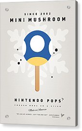 My Nintendo Ice Pop - Mini Mushroom Acrylic Print by Chungkong Art