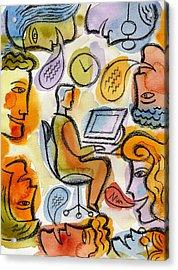 My Office Acrylic Print by Leon Zernitsky