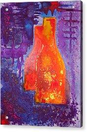 My Old Wine Bottles Acrylic Print by Mario Perez