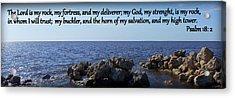 My Rock My Fortress Acrylic Print by Sheri McLeroy