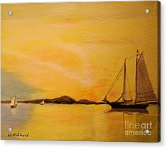 My Ship Lies Awaiting In The Harbor Acrylic Print by Bill Hubbard