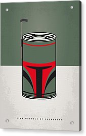 My Star Warhols Boba Fett Minimal Can Poster Acrylic Print by Chungkong Art