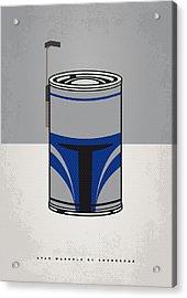 My Star Warhols Jango Fett Minimal Can Poster Acrylic Print by Chungkong Art