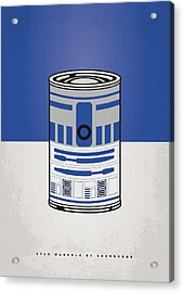 My Star Warhols R2d2 Minimal Can Poster Acrylic Print by Chungkong Art