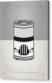 My Star Warhols Stormtrooper Minimal Can Poster Acrylic Print by Chungkong Art