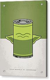 My Star Warhols Yoda Minimal Can Poster Acrylic Print by Chungkong Art