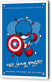 My Supercharged Voodoo Dolls Captain America Acrylic Print by Chungkong Art