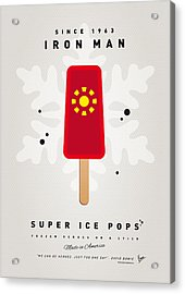 My Superhero Ice Pop - Iron Man Acrylic Print by Chungkong Art