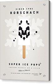 My Superhero Ice Pop - Rorschach Acrylic Print by Chungkong Art