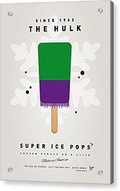 My Superhero Ice Pop - The Hulk Acrylic Print by Chungkong Art