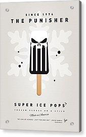 My Superhero Ice Pop - The Punisher Acrylic Print by Chungkong Art