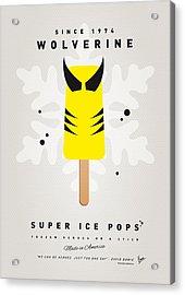 My Superhero Ice Pop - Wolverine Acrylic Print by Chungkong Art