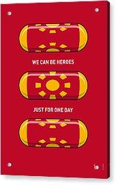 My Superhero Pills - Iron Man Acrylic Print by Chungkong Art
