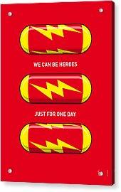 My Superhero Pills - The Flash Acrylic Print by Chungkong Art
