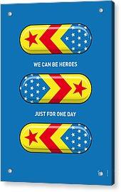 My Superhero Pills - Wonder Woman Acrylic Print by Chungkong Art