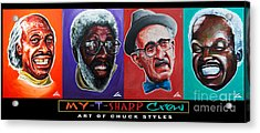 My-t-sharp Crew Acrylic Print by Chuck Styles