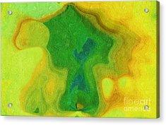 My Teddy Bear - Digital Painting - Abstract Acrylic Print by Andee Design