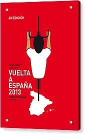 My Vuelta A Espana Minimal Poster - 2013 Acrylic Print by Chungkong Art