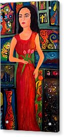 My World In The Art Acrylic Print by Deyanira Harris