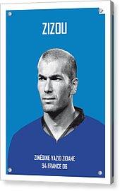 My Zidane Soccer Legend Poster Acrylic Print by Chungkong Art