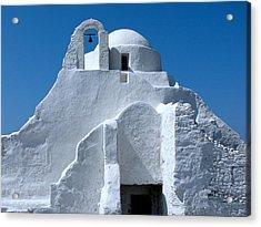 Mykonos Church Acrylic Print by Bonita Hensley