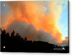 Acrylic Print featuring the photograph Myrtle Fire Near Rifle Pit Road by Bill Gabbert
