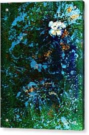 Mysterious Flower Under The Sea Acrylic Print by Anne-Elizabeth Whiteway