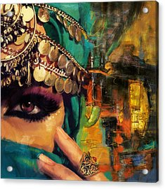 Mystery Acrylic Print by Corporate Art Task Force