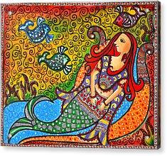 Mystic Mermaid Acrylic Print by Deepti Mittal