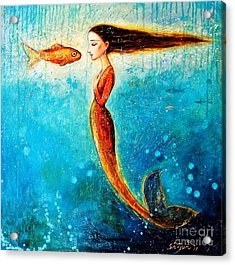 Mystic Mermaid II Acrylic Print by Shijun Munns