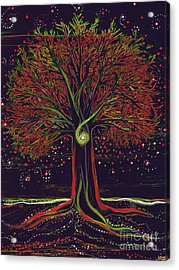 Mystic Spiral Tree Red By Jrr Acrylic Print by First Star Art