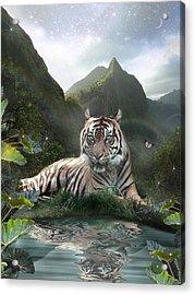 Mystic Tigress Acrylic Print by Alixandra Mullins
