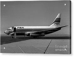 N462gb Boeing 737 At Long Beach California Acrylic Print by Wernher Krutein