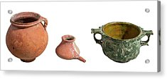 Nabatean Clay Vessels Acrylic Print by Photostock-israel