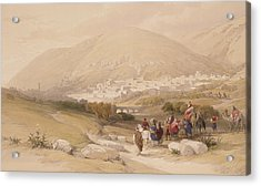 Nablous   Ancient Shechem Acrylic Print by David Roberts