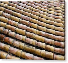 Nafplio Roof Tiles Acrylic Print by David Waldo