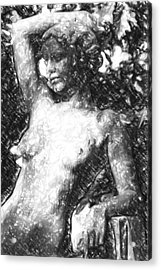 Naked Woman Acrylic Print by Toppart Sweden