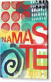 Namaste- Contemporary Abstract Art Acrylic Print by Linda Woods