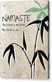 Namaste Greeting Card Acrylic Print by Linda Woods