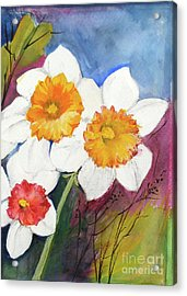 Narcissus Acrylic Print by Sibby S