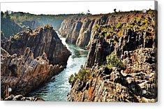 Narmada River Gorge At Jabalpur India Acrylic Print by Kim Bemis