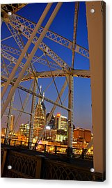 Nashville Bridge Acrylic Print by Zachary Cox