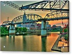 Nashville Dusk Acrylic Print by Zachary Cox
