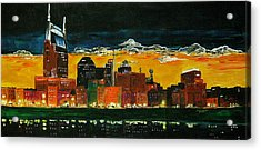 Nashville Night Acrylic Print by Vickie Warner